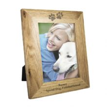 5x7 Paw Prints Wooden Frame